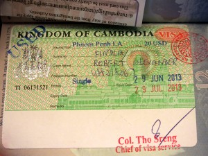 Visa, Cambodia, Passport
