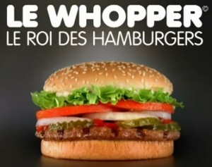 Whopper, Burger King, French
