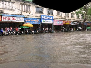 Phnom Penh, Cambodia, flood, rain, season
